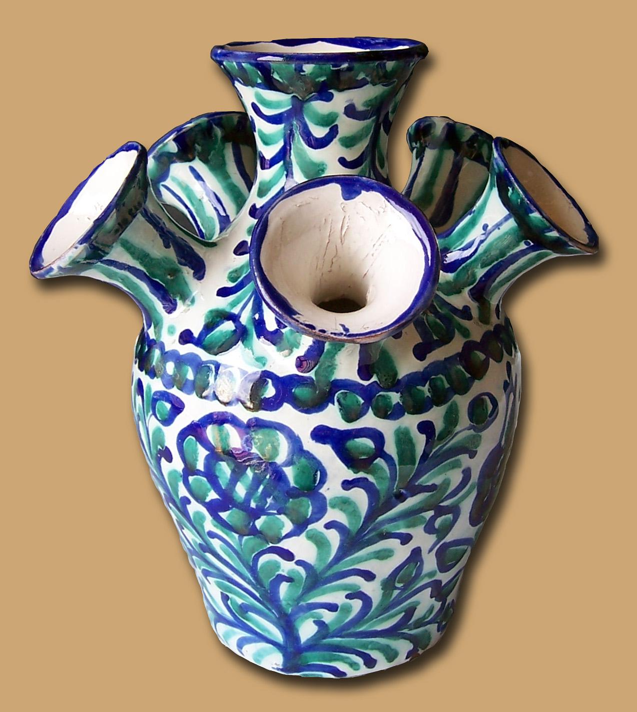 File ceramica fajalauza granada tulipanero 2 - Ceramica de la cartuja ...