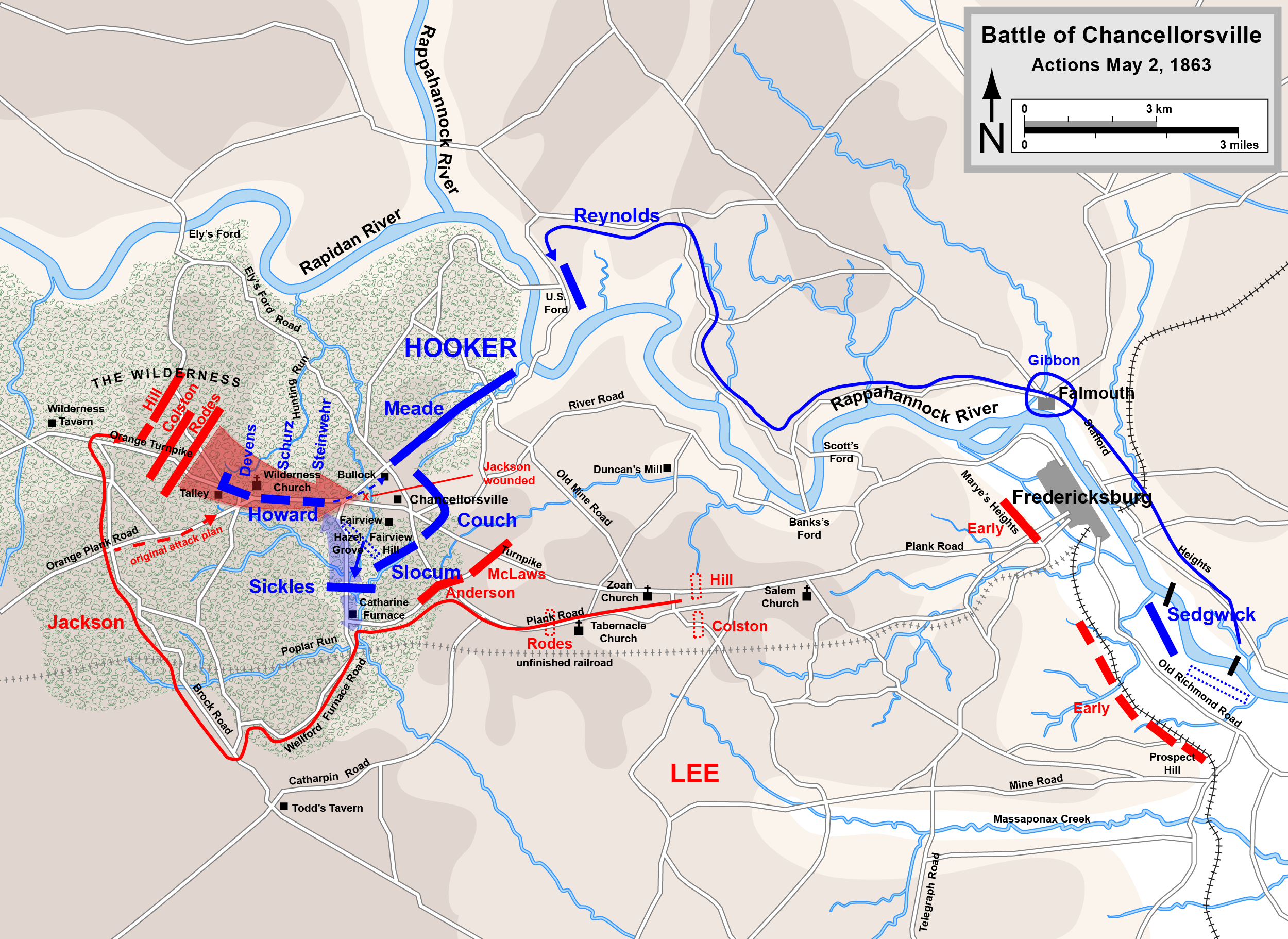Why did Jackson start the attack at Chancellorsville at 6 ...