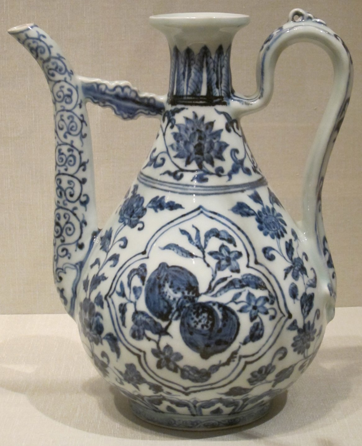 File Chinese Wine Ewer Ming Dynasty Early 15th Century