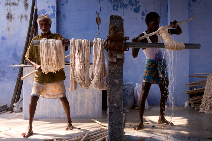 Cotton dyeing in India