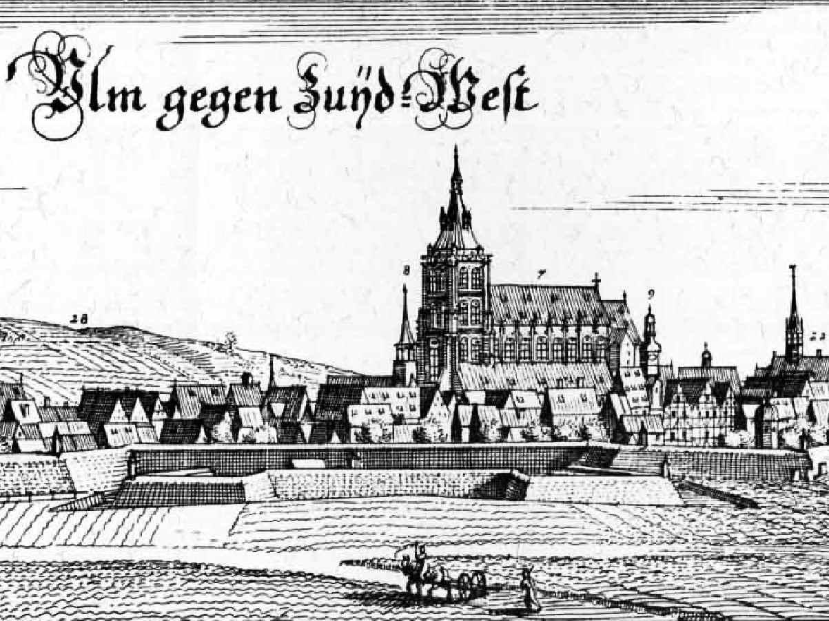 Zeichnung, Ulmer Münster