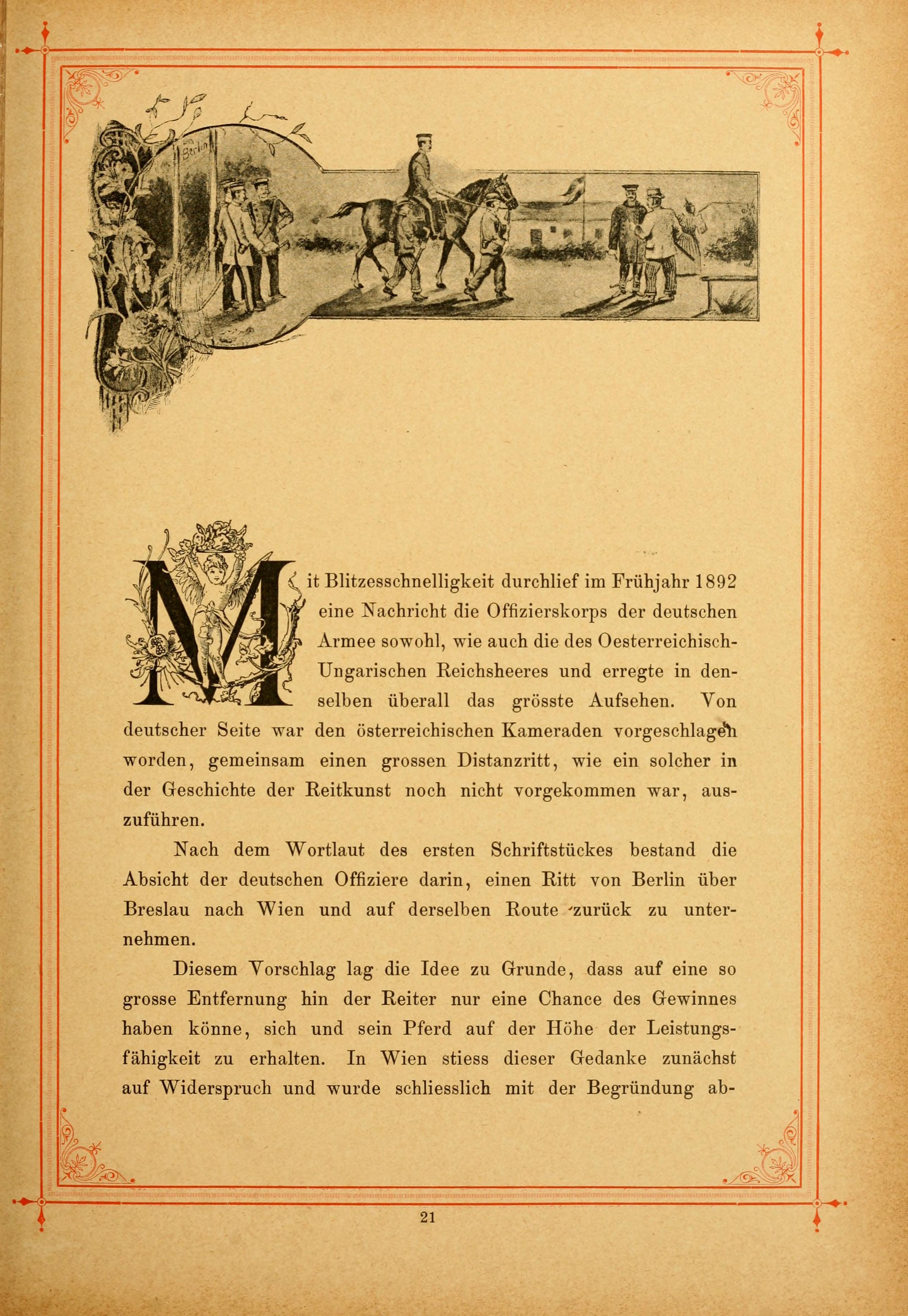 Fileder Grosse Distanz Ritt Berlin Wien Im Jahre 1892 Page 21