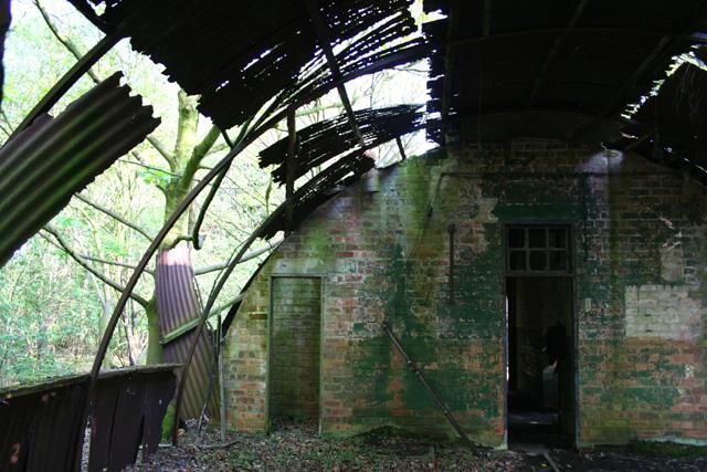 Derelict Nissen hut, interior - geograph.org.uk - 793016