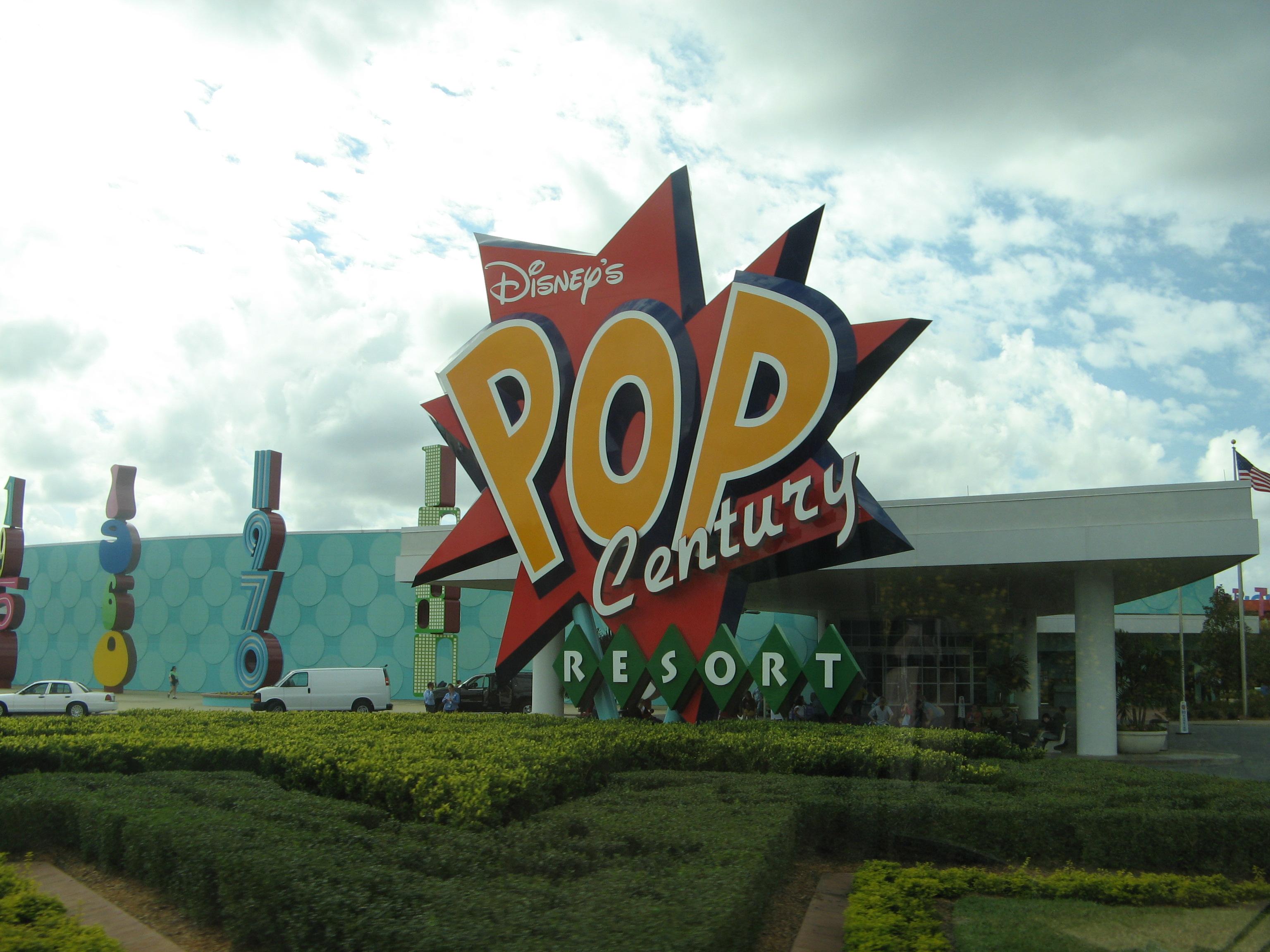 Disney Pop Century Food Court Menu