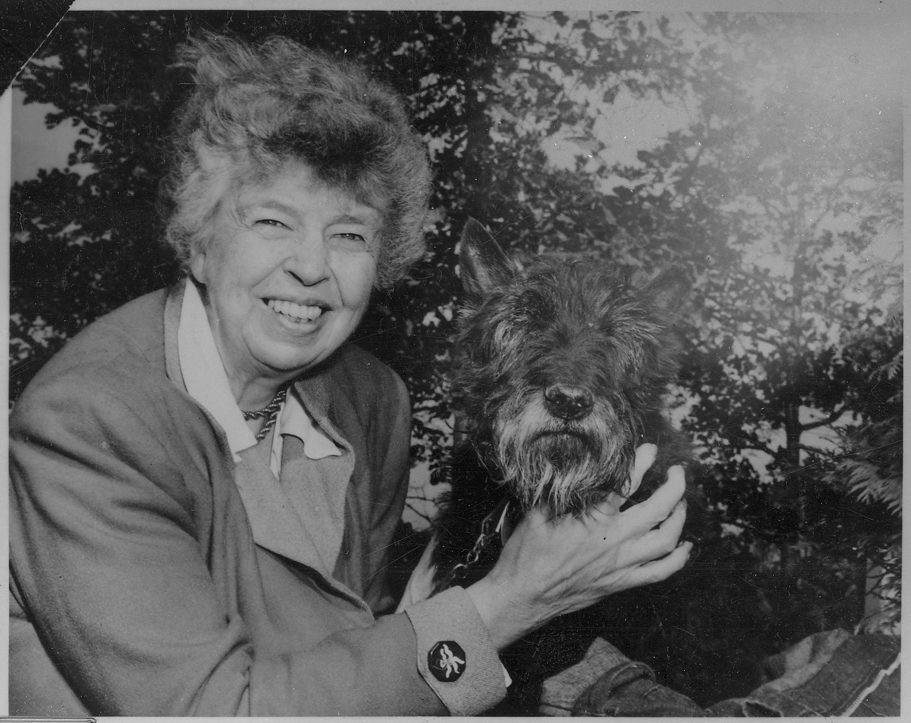 https://upload.wikimedia.org/wikipedia/commons/8/8a/Eleanor_Roosevelt_and_Fala_at_Val,Kill_in_Hyde_Park,_New_York_-_NARA_-_196181.jpg