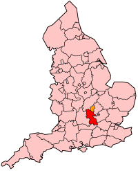 Map showing the location of Buckinghamshire