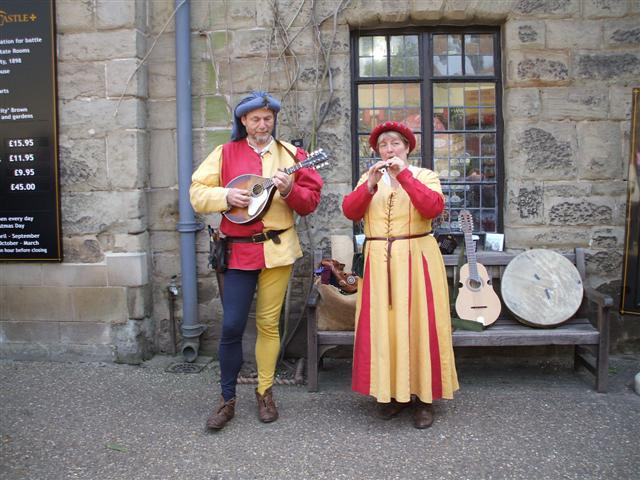 Entertainment outside Warwick Castle - geograph.org.uk - 403866