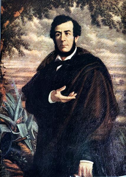 Esteban Echeverría, figura destacada del romanticismo argentino, escribió «La cautiva» y «El matadero».