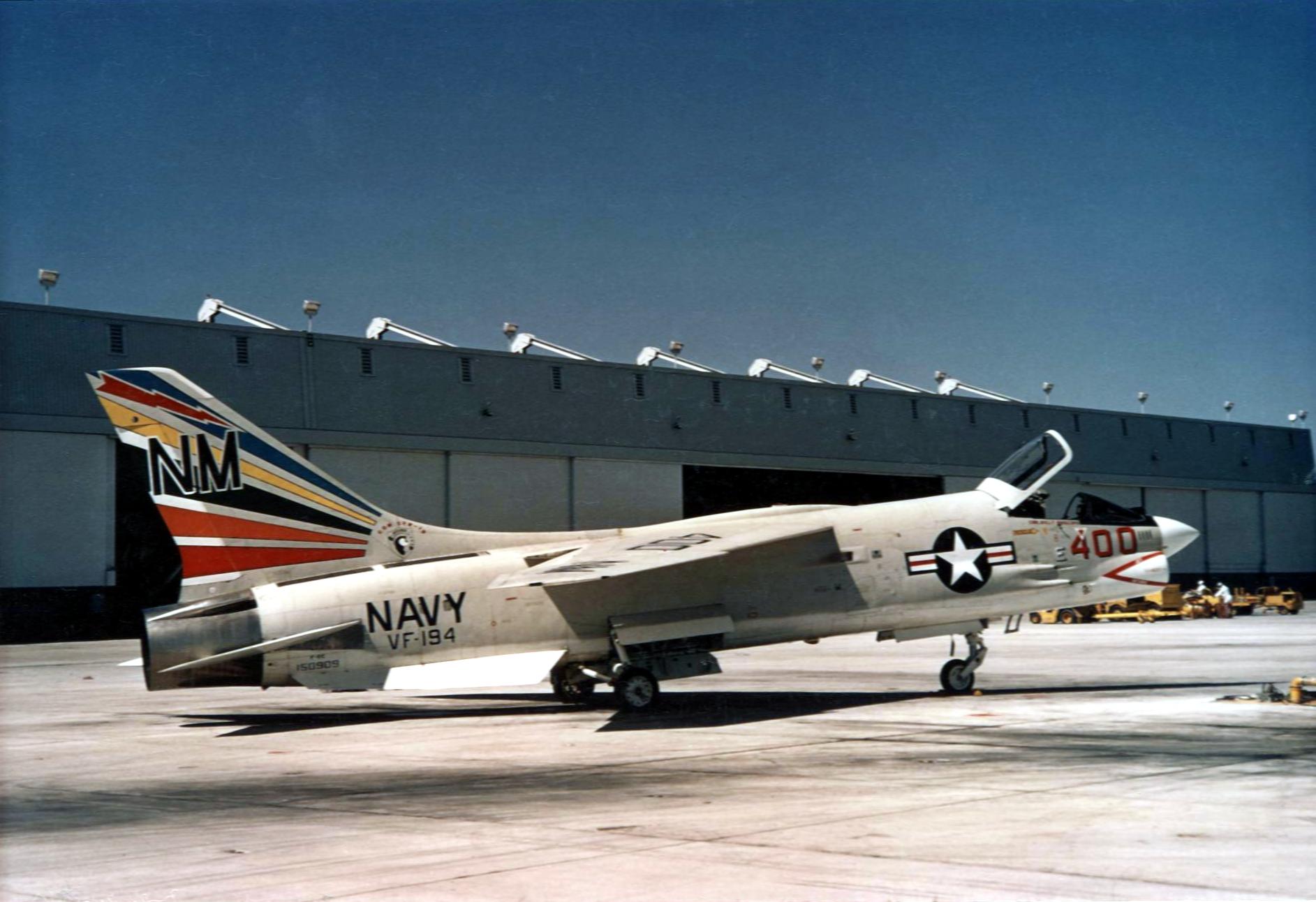F-8E_Crusader_VF-194_CAG-bird_at_NAS_Mir