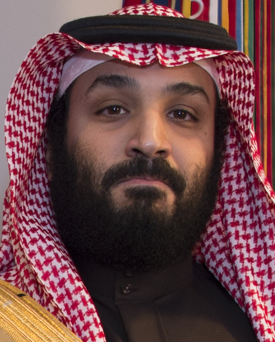 File:Face detail, Mohammad bin Salman in 2018, from- James Mattis with Mohammad bin Salman in Washington - 2018 (26083230857) (cropped).jpg - Wikimedia Commons
