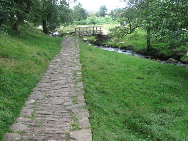 Footpath and footbridge over Burbage Brook - geograph.org.uk - 1455609