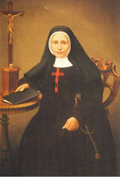 Blessed Mary Frances Schervier (1819-1876) was a member of the Third Order of St. Francis who became the foundress of the Poor Sisters of St. Francis, founded to serve the needy. Franziska schervier.jpg