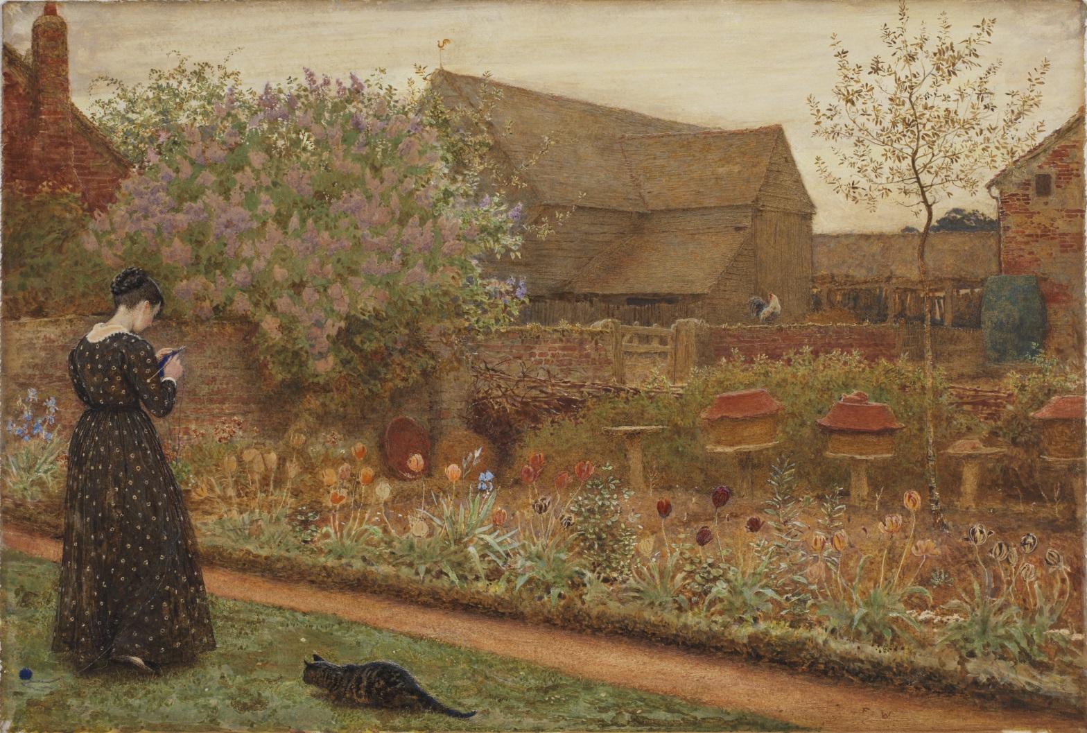 File:Frederick Walker, The Old Farm Garden, 1871.jpg - Wikimedia Commons