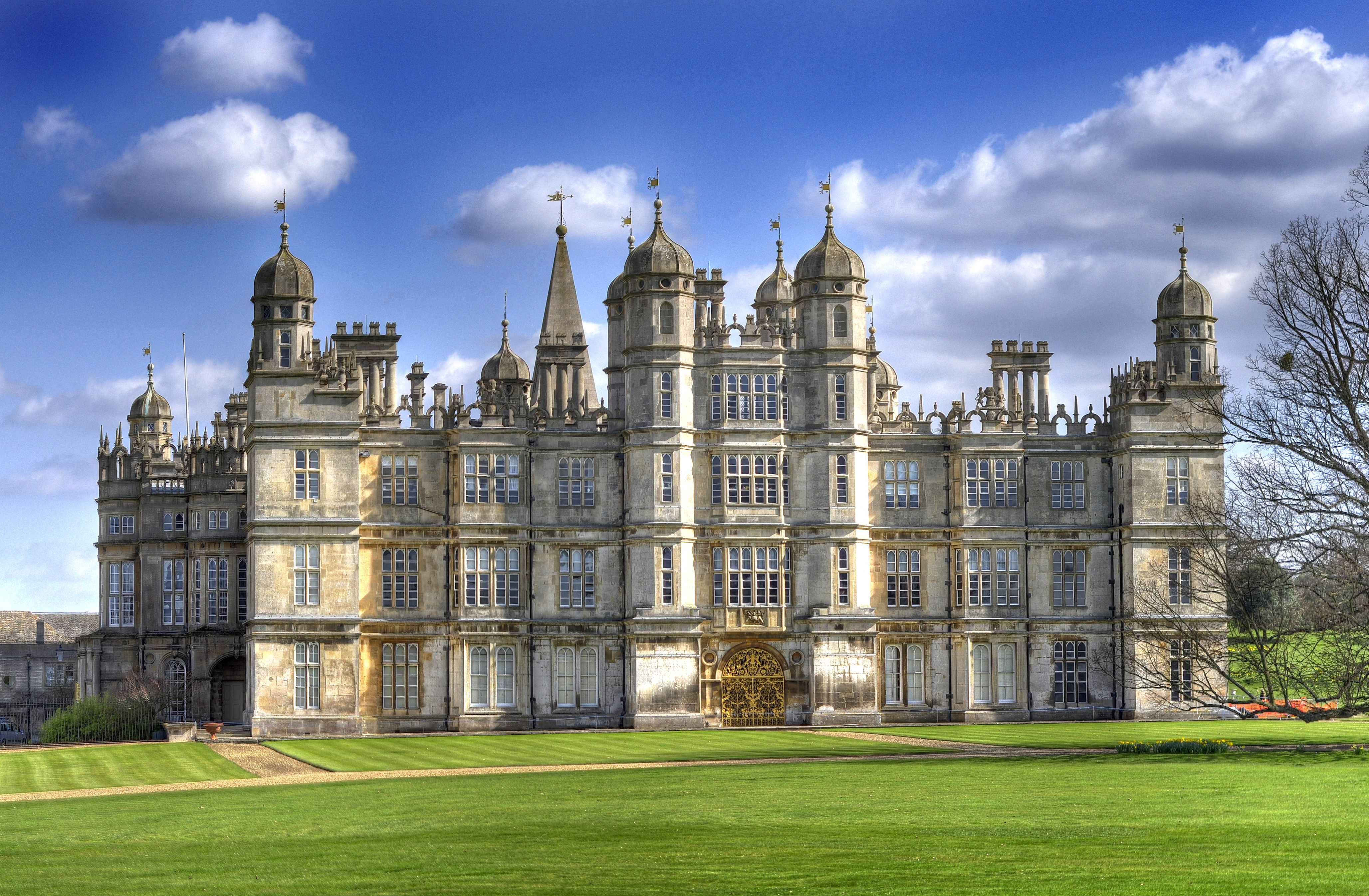 Burghley House (1555 1587), seat of the Marquess of Exeter, hereditary Lord Paramount of Peterborough.