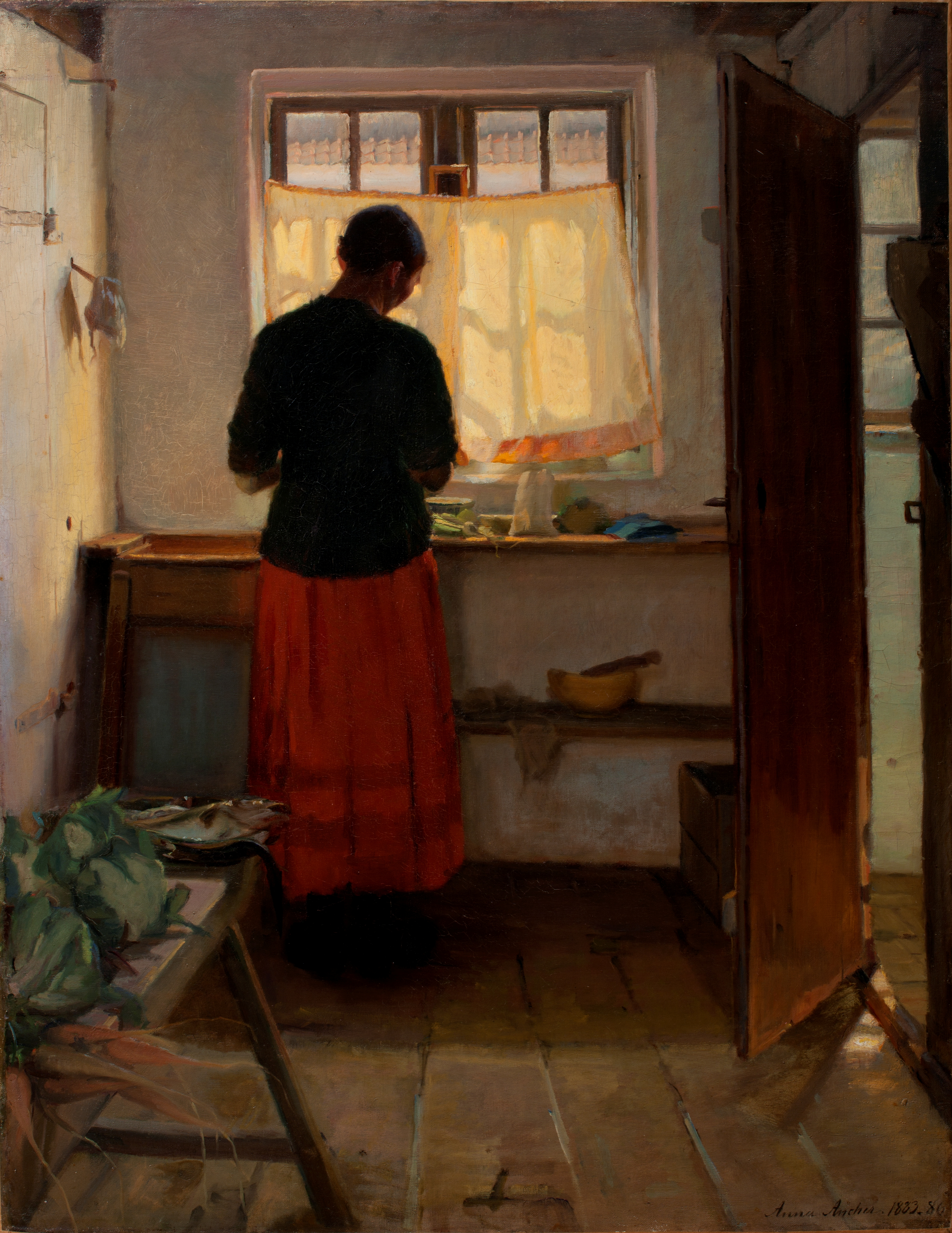File Girl in the Kitchen Anna Ancher Wikimedia mons