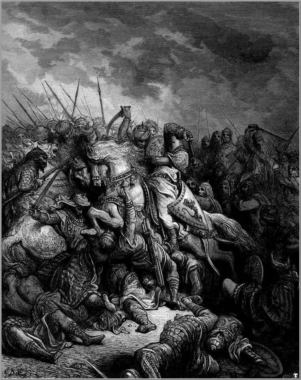 Gustave Dore, the Battle of Arsuf