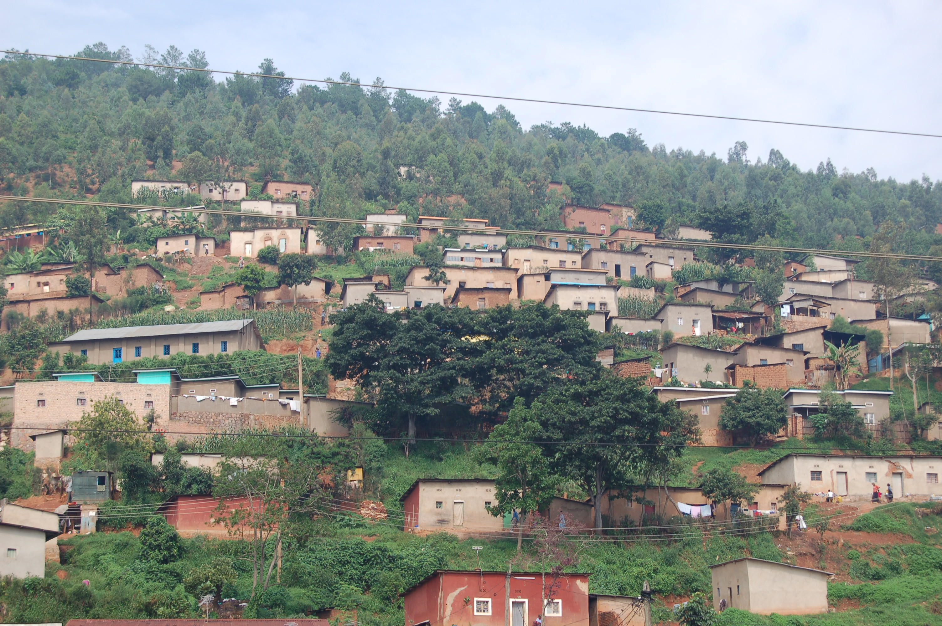 File Houses On A Hill Slope In Rwanda