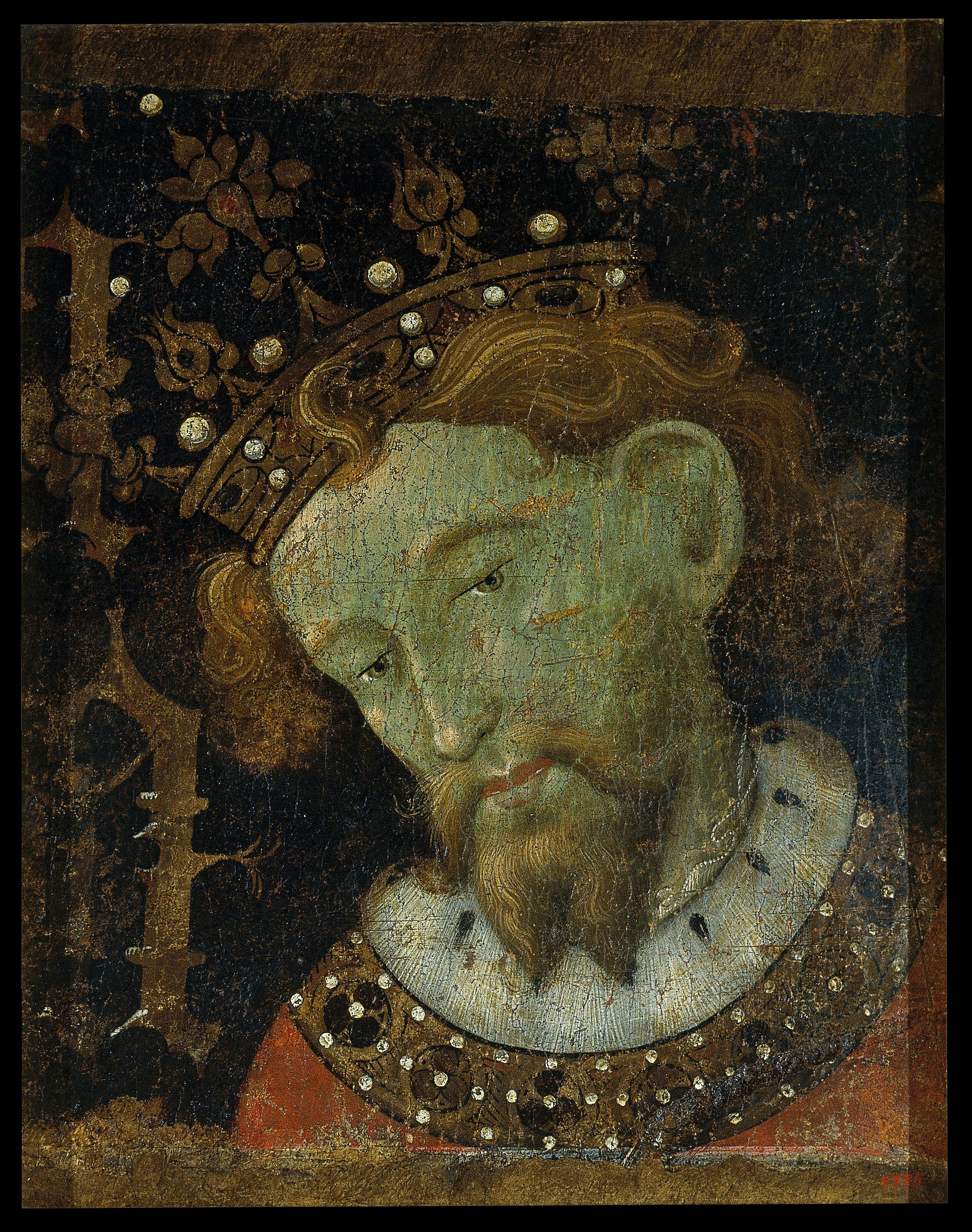 Retrato Alfonso III el Liberal s. XV por Jaume Mateu y Gonçal Peris