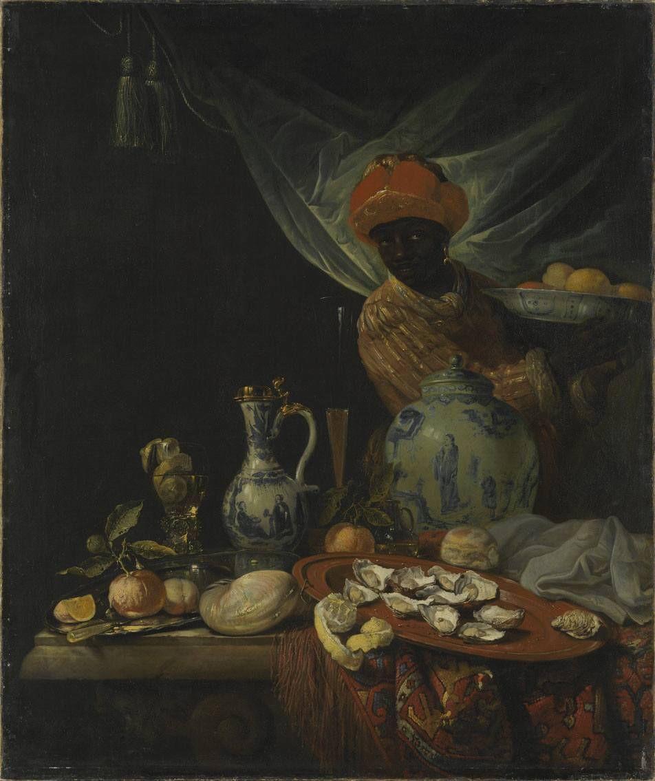 Juriaen van Streeck, Still Life with a Servant and Chinese porcelains, ca. 1670-1680, Alte Pinakothek, Munich, Germany.
