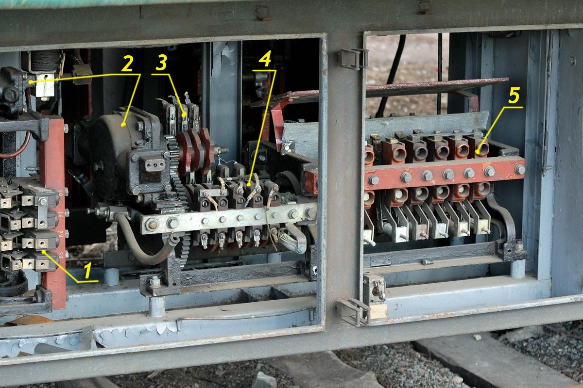 Реостатный контроллер КСП-1А электропоезда ЭР2.