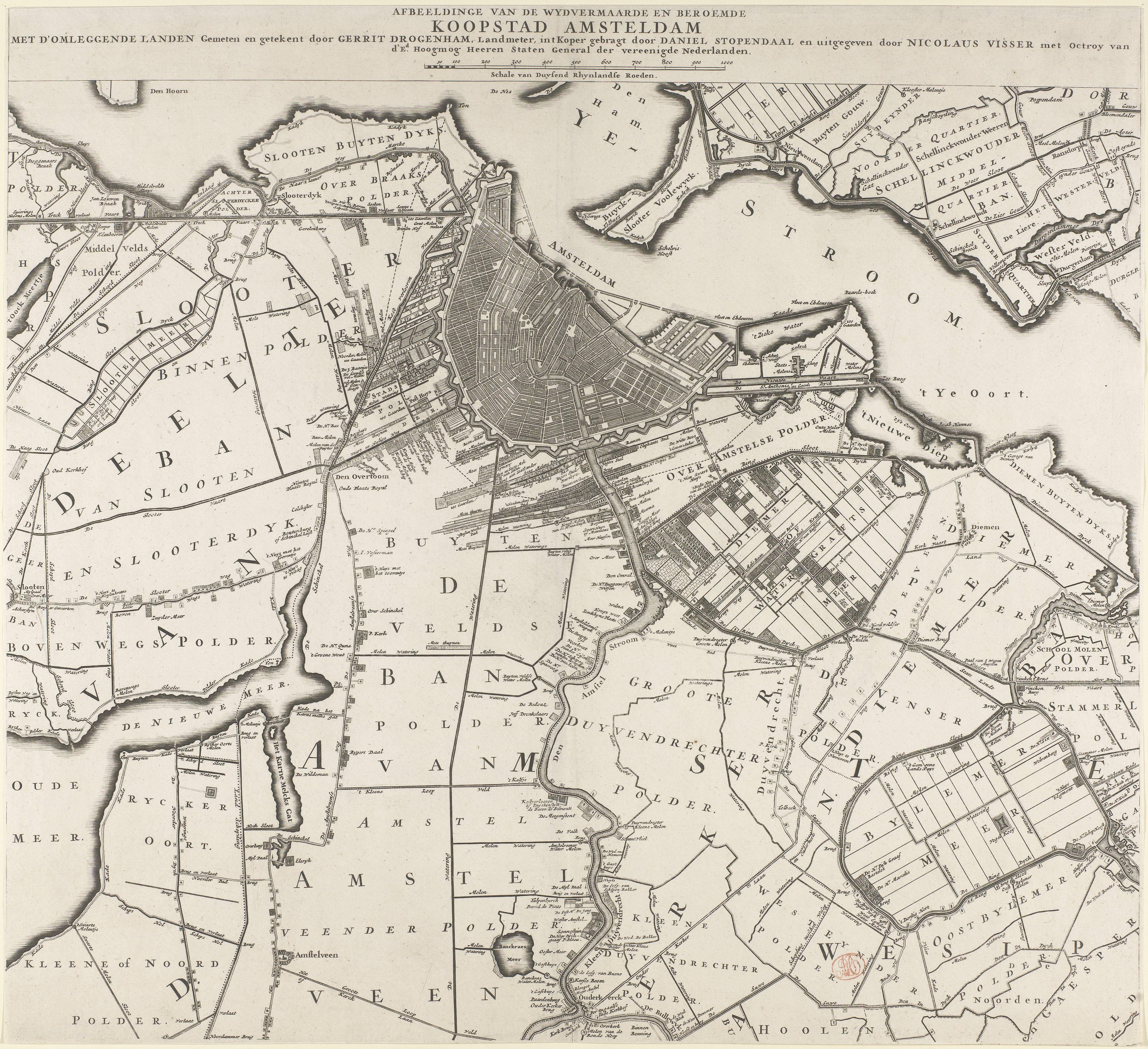 File Kaart Van Amsterdam En Omliggende Gebieden Daniel Stopendael