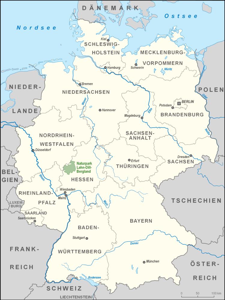Fluss Lahn Karte
