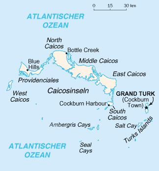 Karte Turks- und Caicosinseln