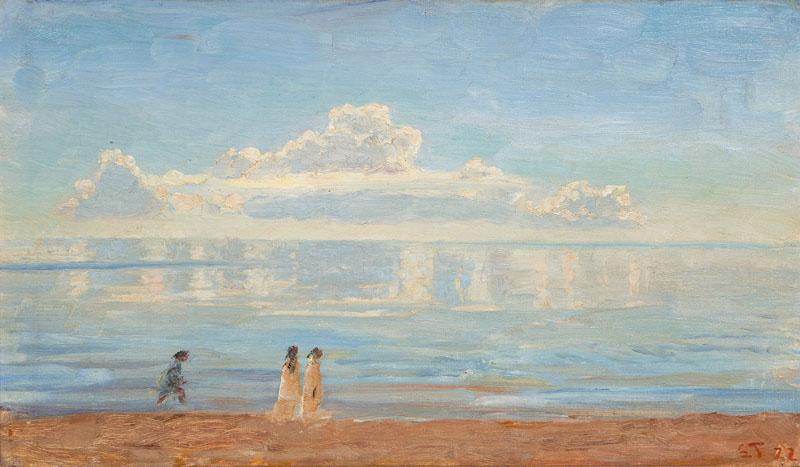 Datei:Laurits Regner Tuxen Spaziergänger am Strand von Skagen 1922 ...