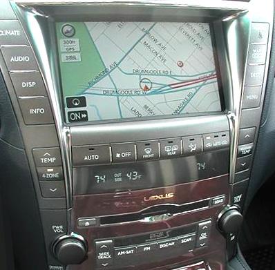 Lexus Gen V navigation system