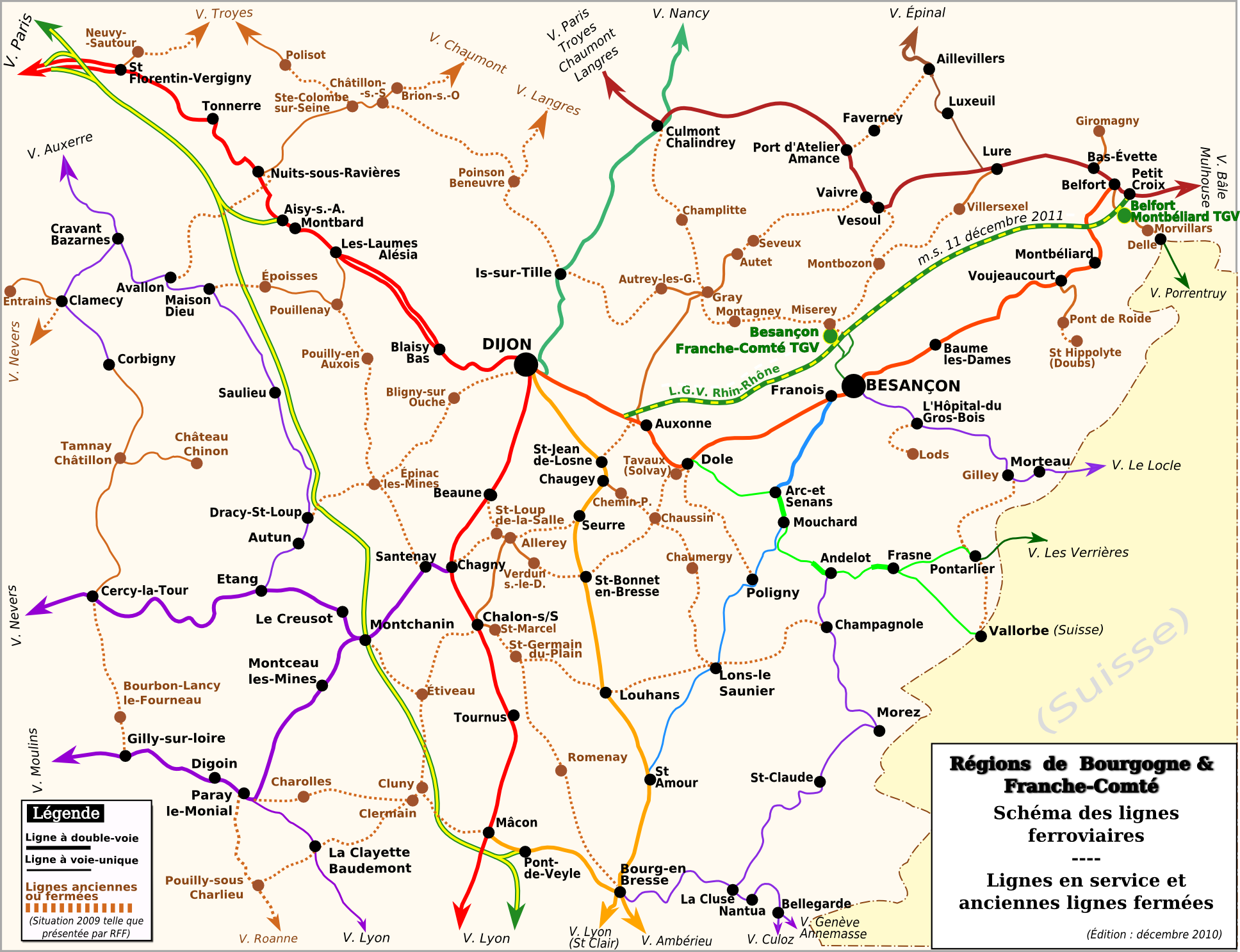 France Region Et Villes