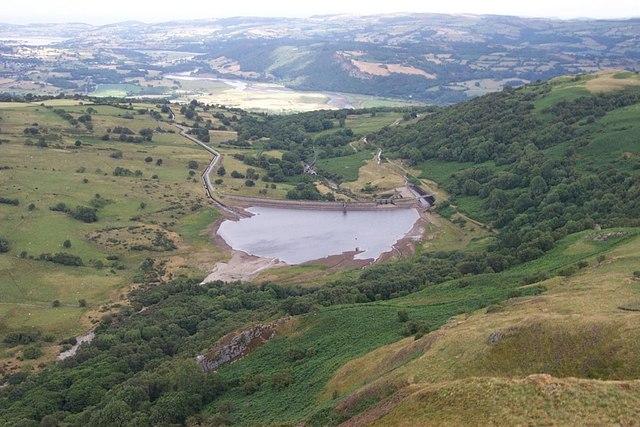 Llyn Coedty Reservoir from Moel Eilio - geograph.org.uk - 212713