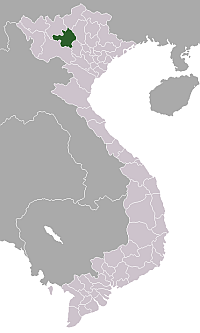 Location of Yên Bái Province