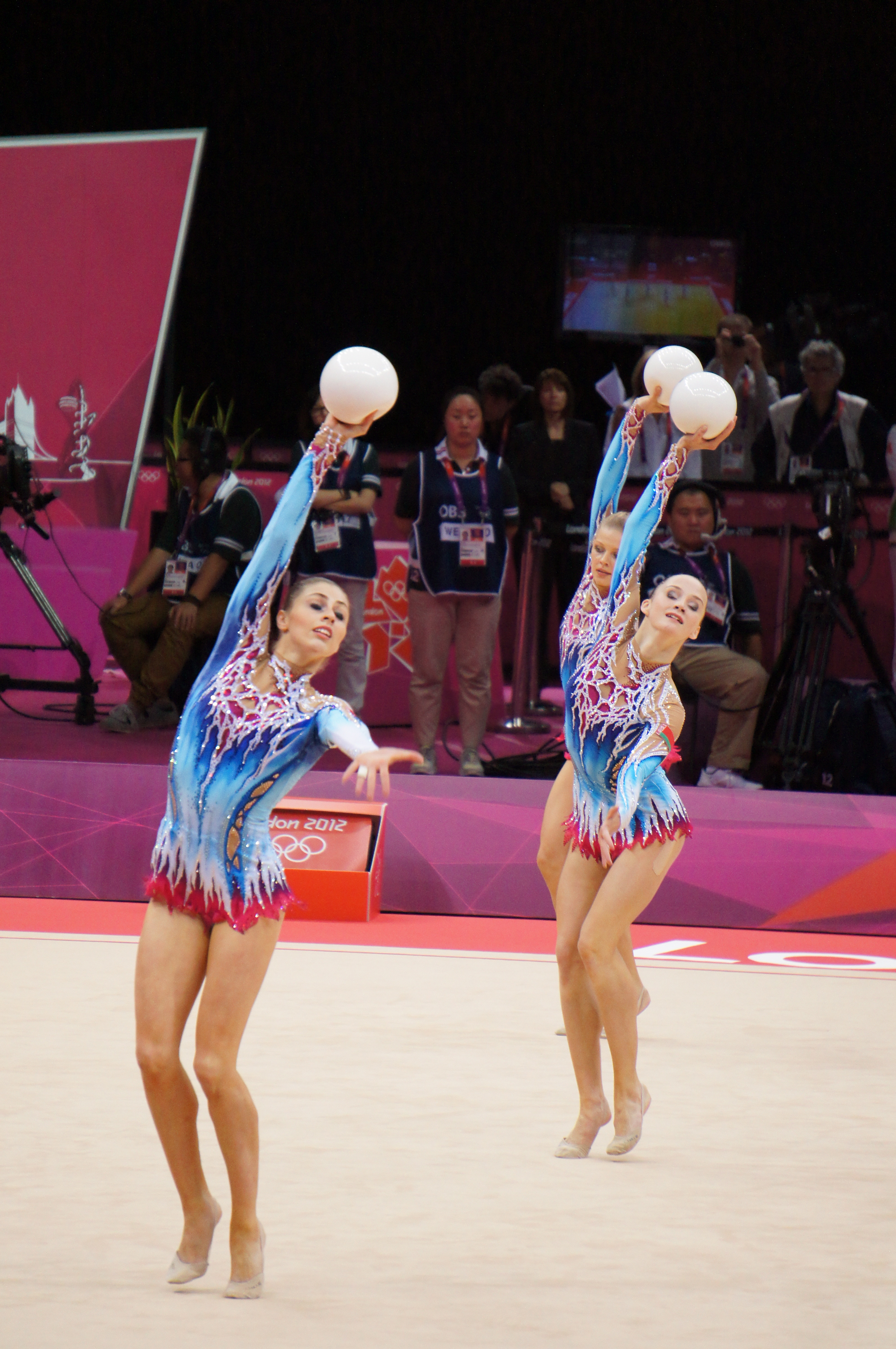 File:London 2012 Rhythmic Gymnastics - Belarus balls.jpg ...