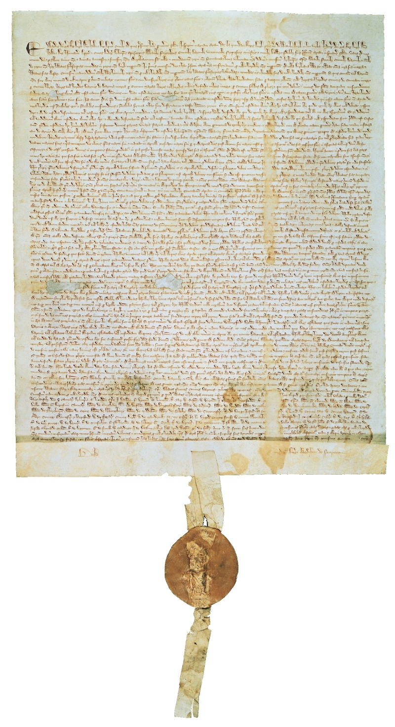 Magna Carta (1297 version with seal, owned by David M Rubenstein).jpg