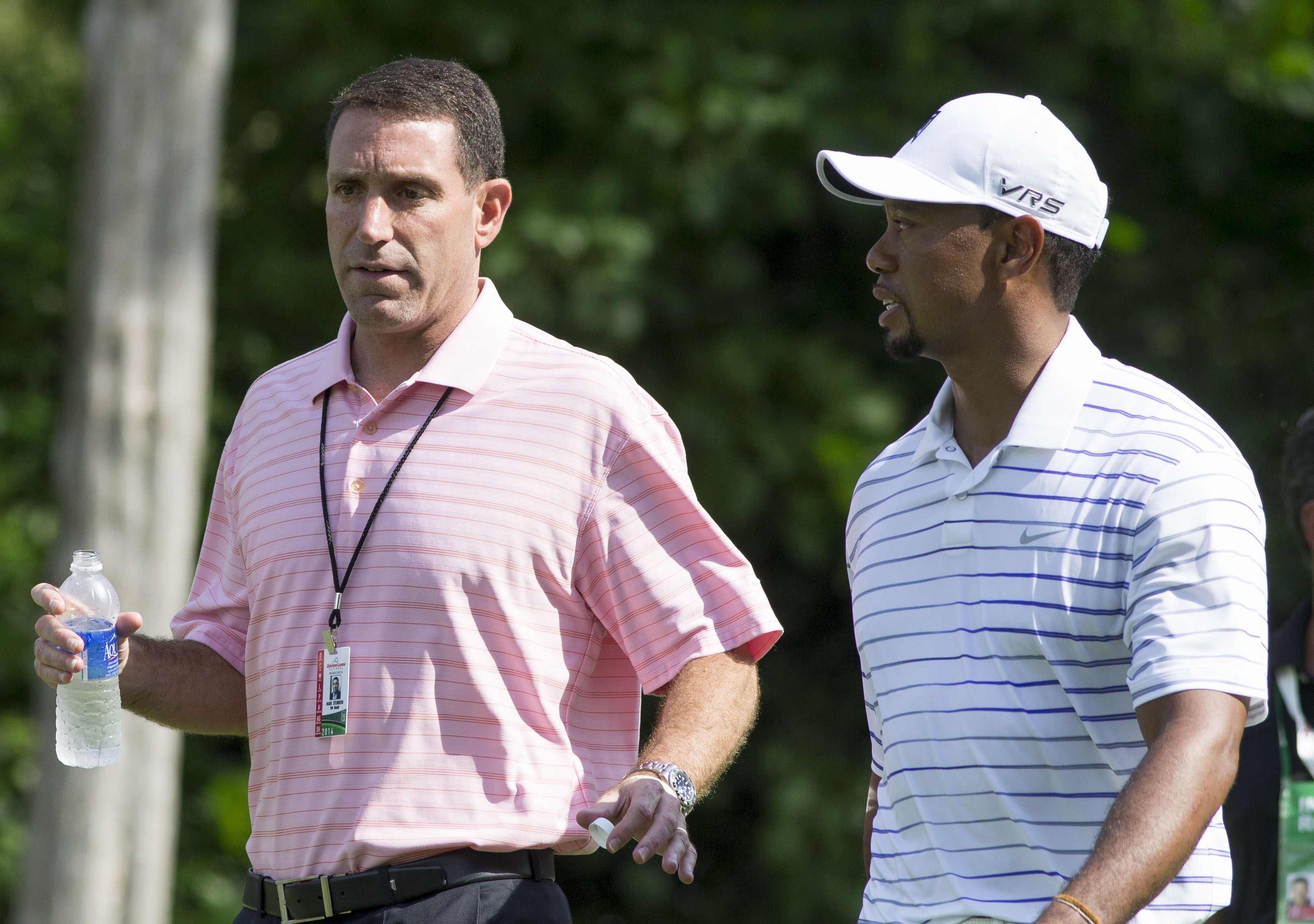 Steinberg with [[Tiger Woods