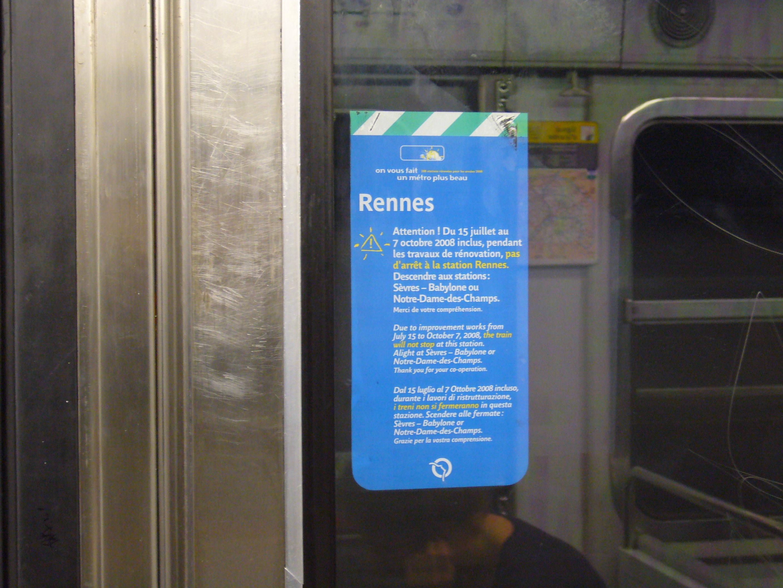 Metro Paris - Ligne 12 - Station Rennes - Affiche de rénovation.jpg