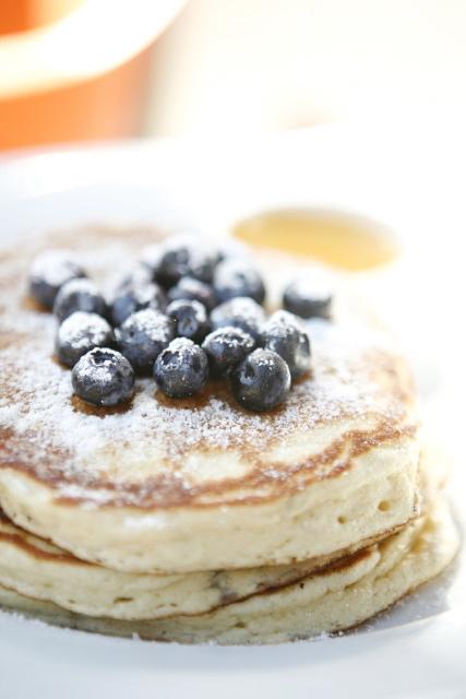 ... pancakes, made at the Clinton Street Baking Co. (Photo credit