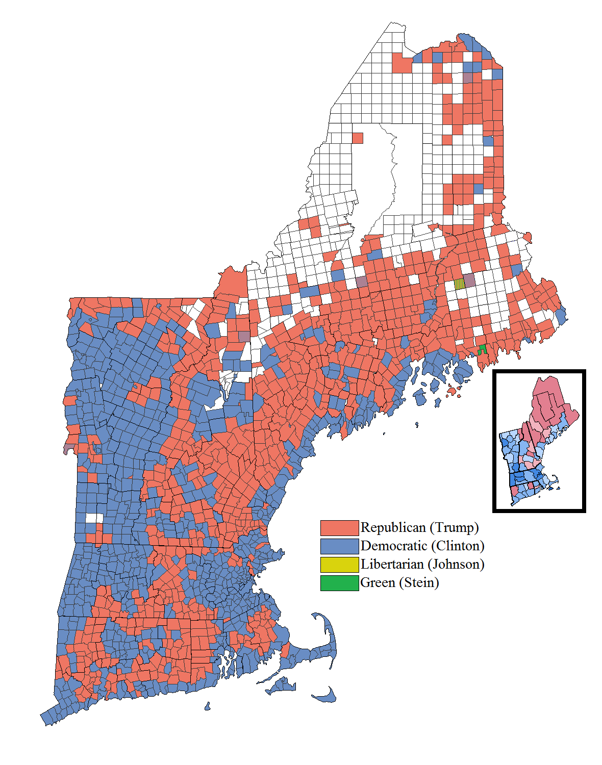 FileNew England Election Resultspng Wikimedia Commons - 2016 election us map results