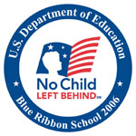 The logo for the Natonal Blue Ribbon Schools p...