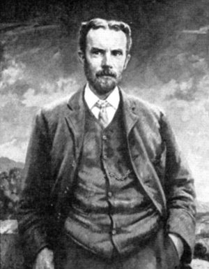 Portrait of Oliver Heaviside by Francis Edwin Hodge
