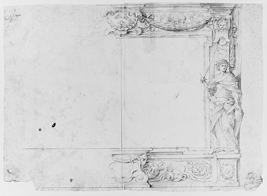 Fileone Half Of A Design For A Frame Of A Stage Proscenium With A