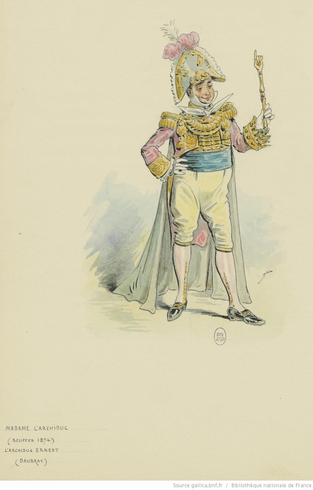 Fileopéra Bouffe Madame Larchiduc Offenbach Personnage