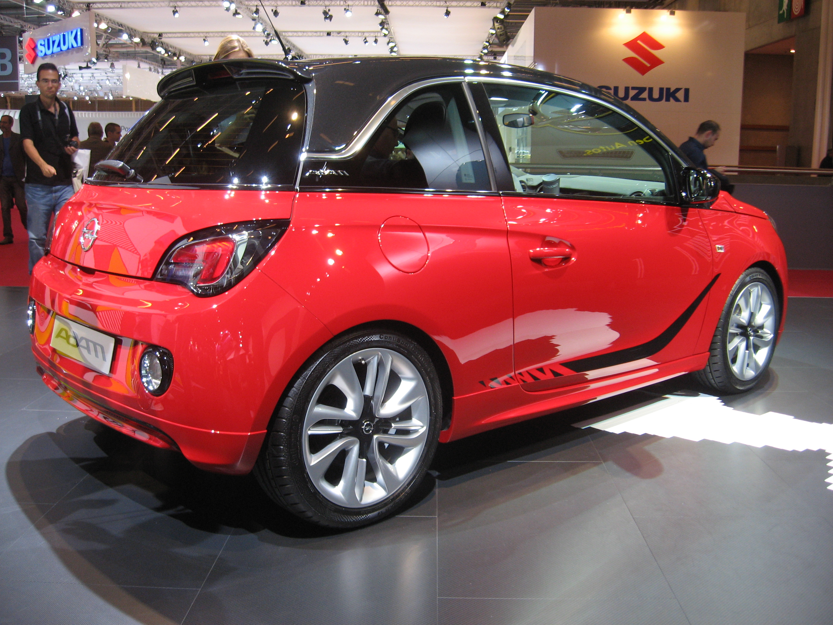 file opel adam red rear jpg wikimedia commons. Black Bedroom Furniture Sets. Home Design Ideas