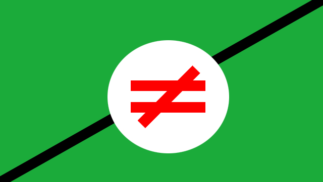 Does Anyone Know Why The Symbol Of Inequality Exists In Pan Iranist
