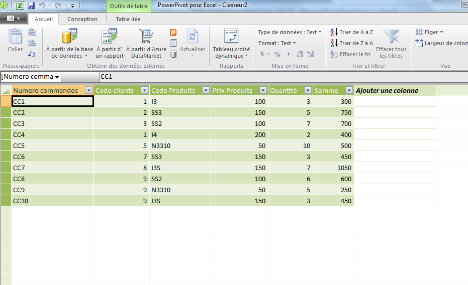 Exo powerpivot
