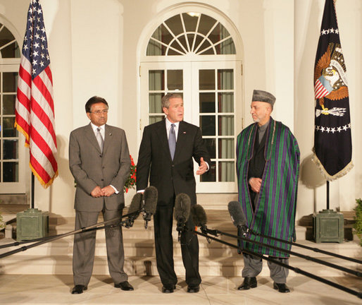 President Bush Hosts Presidents of Pakistan and Afghanistan at the White House
