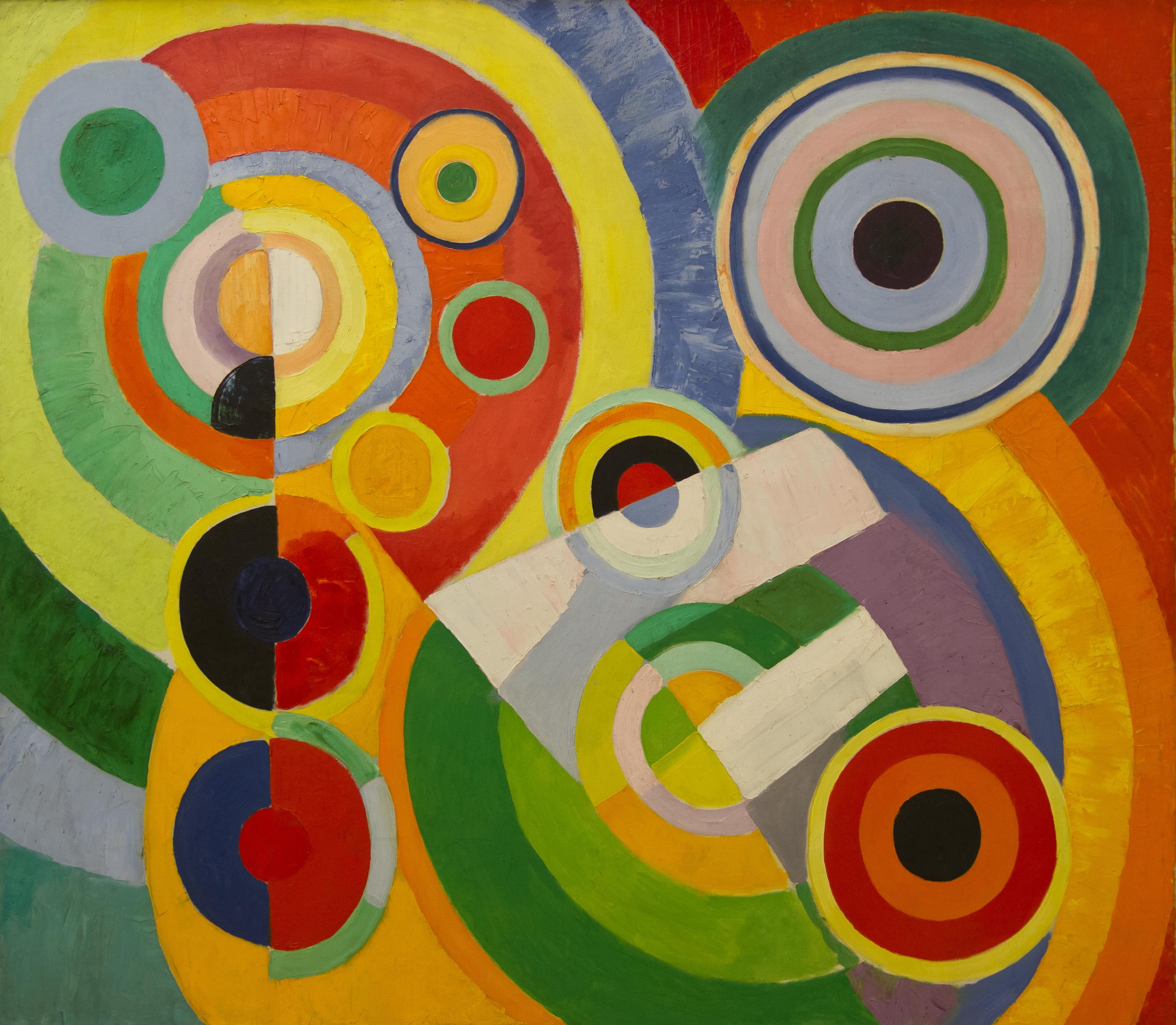 File robert delaunay rythme joie de - Peinture piece a vivre ...