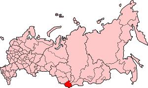 Республика Алтай на карте России