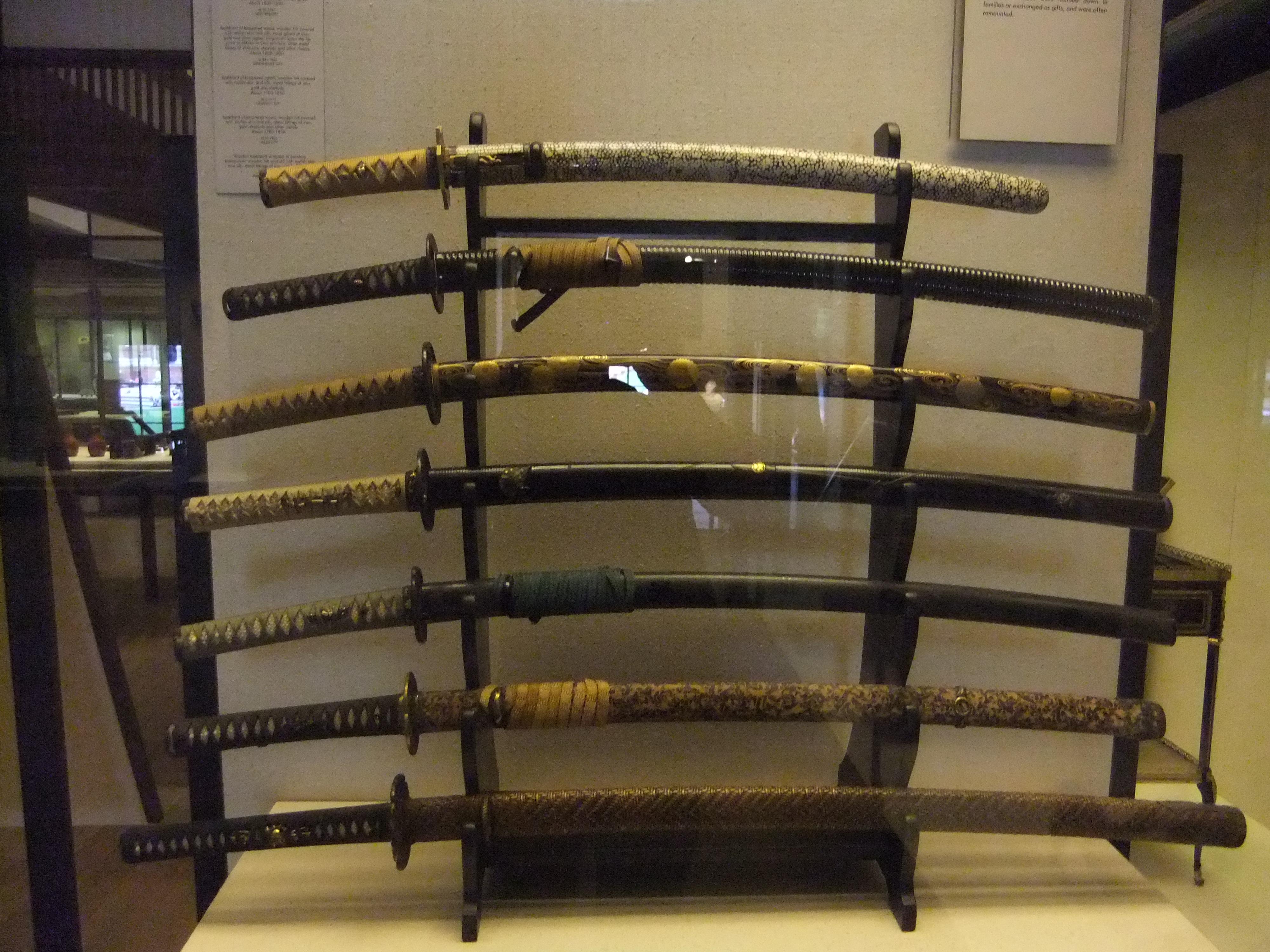 File:Samurai swords, Victoria & Albert Museum, London ...