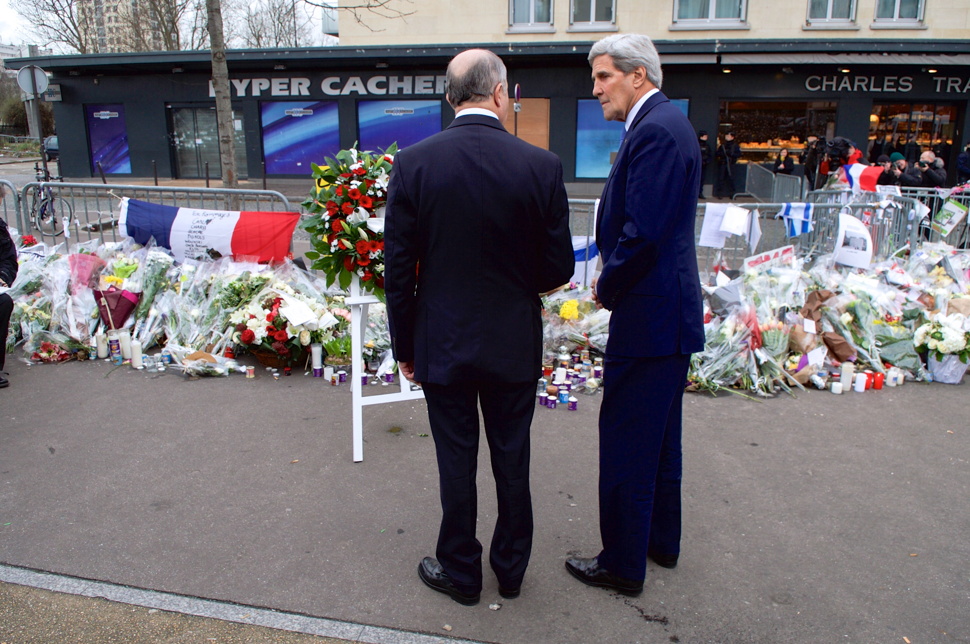 File:Secretary Kerry and French Foreign Minister Fabius Look